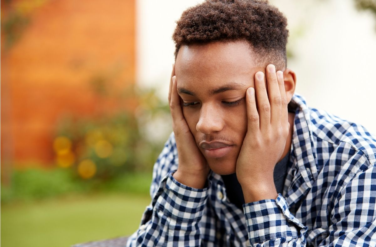July is Minority Mental Health Month - black